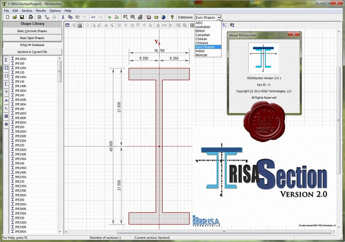 RISA Section v2.0.1