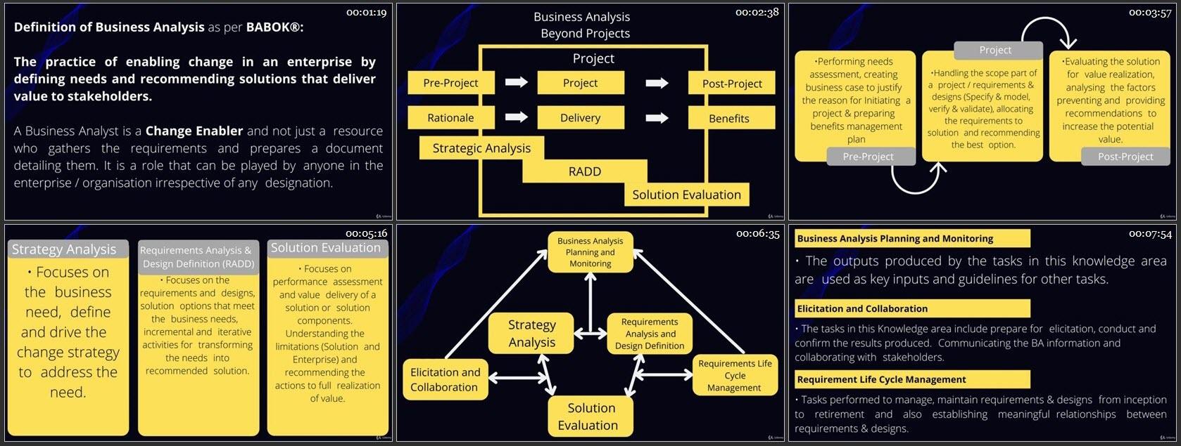 CBAP - IIBA Certified Business Analysis Professional Course