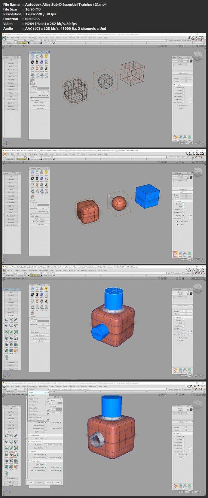 Autodesk Alias Sub-D Essential Training