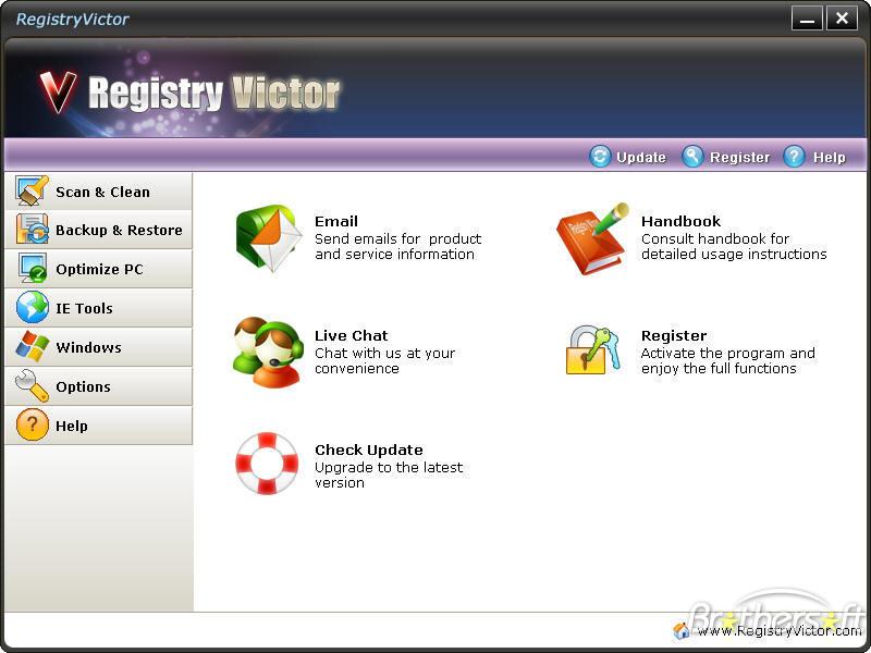 برنامج تحسين الجهاز Registry.Victor Portable تسطيب