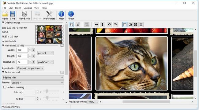 Benvista PhotoZoom 6.0.8 لتكبير الصور المحافظة جودتها