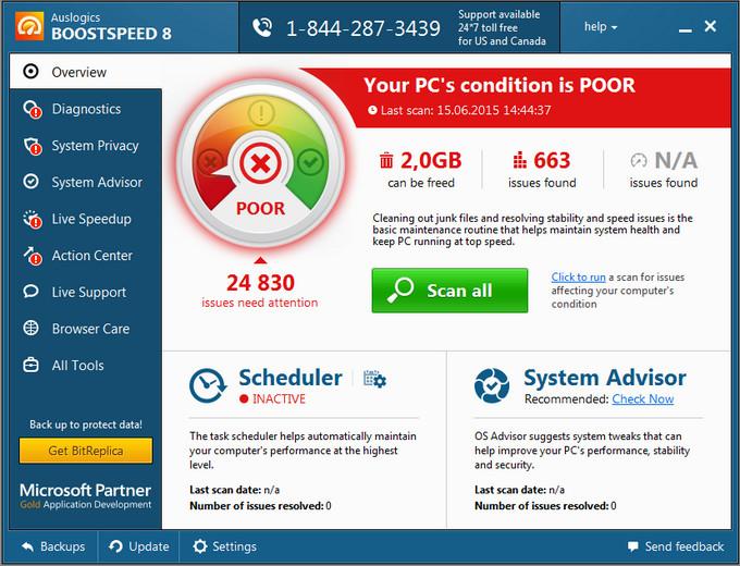 برنامج تسريع الكمبيوتر واصلاح مشاكل النظام AusLogics BoostSpeed 8.0.0.0