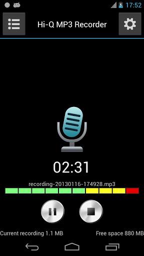 برنامج تسجيل الصوت مفتوح بصيغة للاندرويد Voice Recorder v2.1.1
