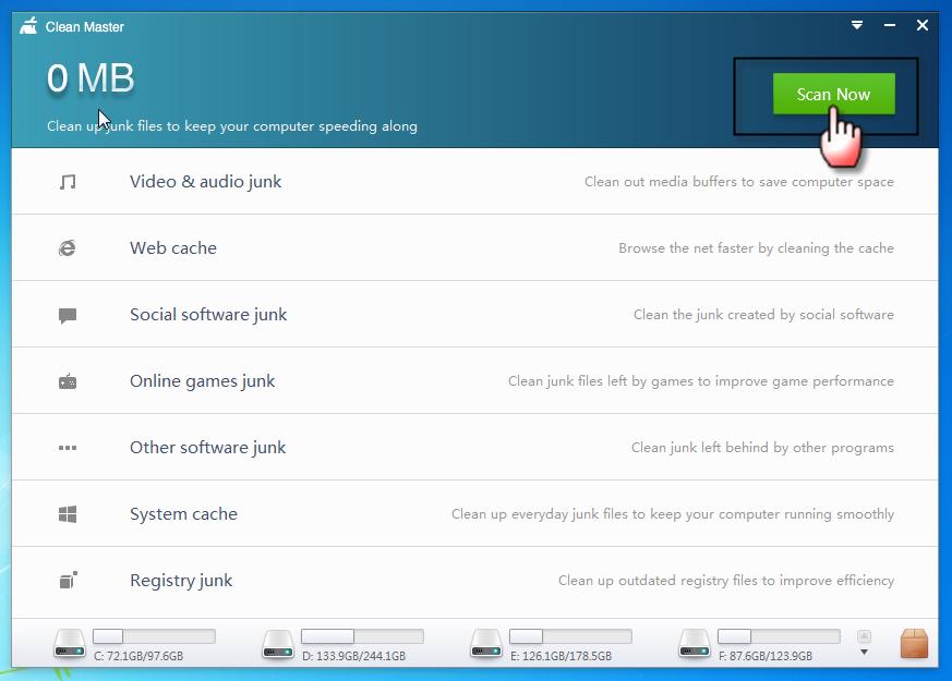 برنامج وخفيف يحتاج تسجيل لتنظيف الحاسوب Clean Master