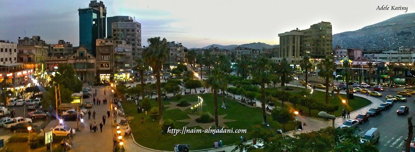 بانوراما رائعة ساحة عرنوس دمشق 2014