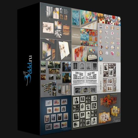 3DDD/3DSky PRO Models – Decorations Pictures Bundle