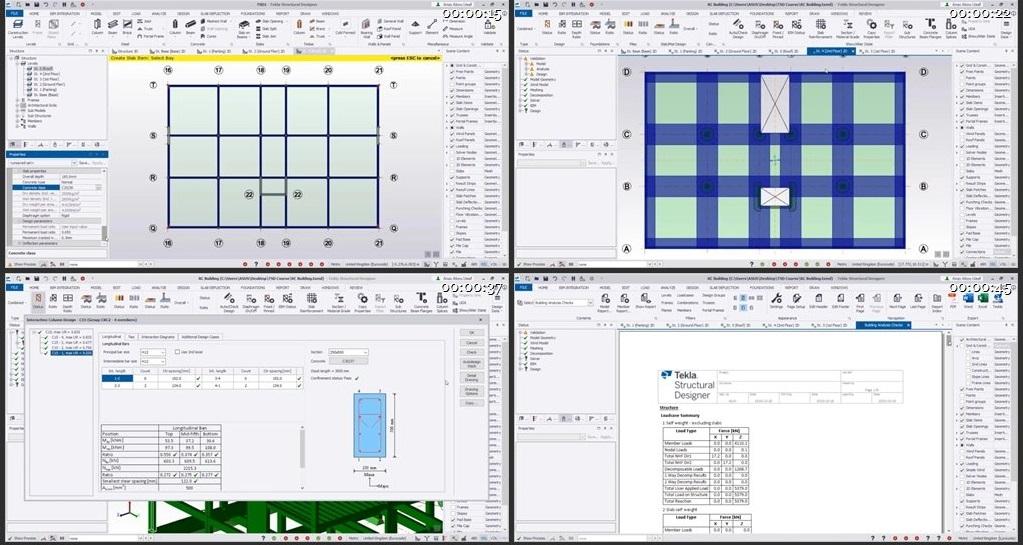 RC Building Design using Tekla Structural Designer