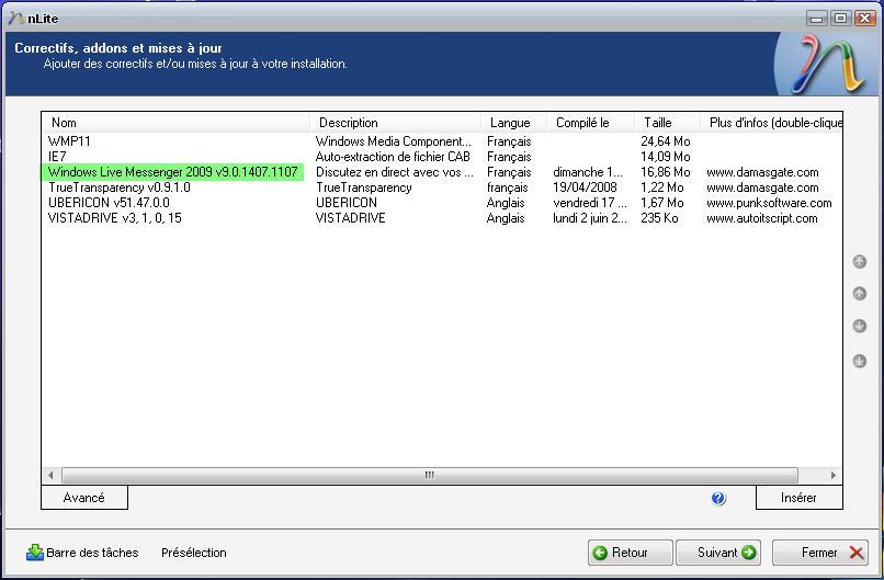 امتداد البرامج nLite Add-On Maker ادمجها مباشرة بواسطة nLite