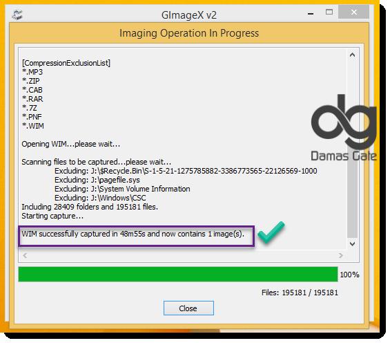 كيفية الاحتفظ بنسخة الويندوز المثبتة الحاسوب لمسها بالأداة [GIMAGEX]