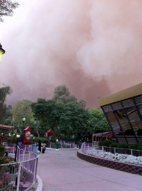 عاصفة الكويت بالصور