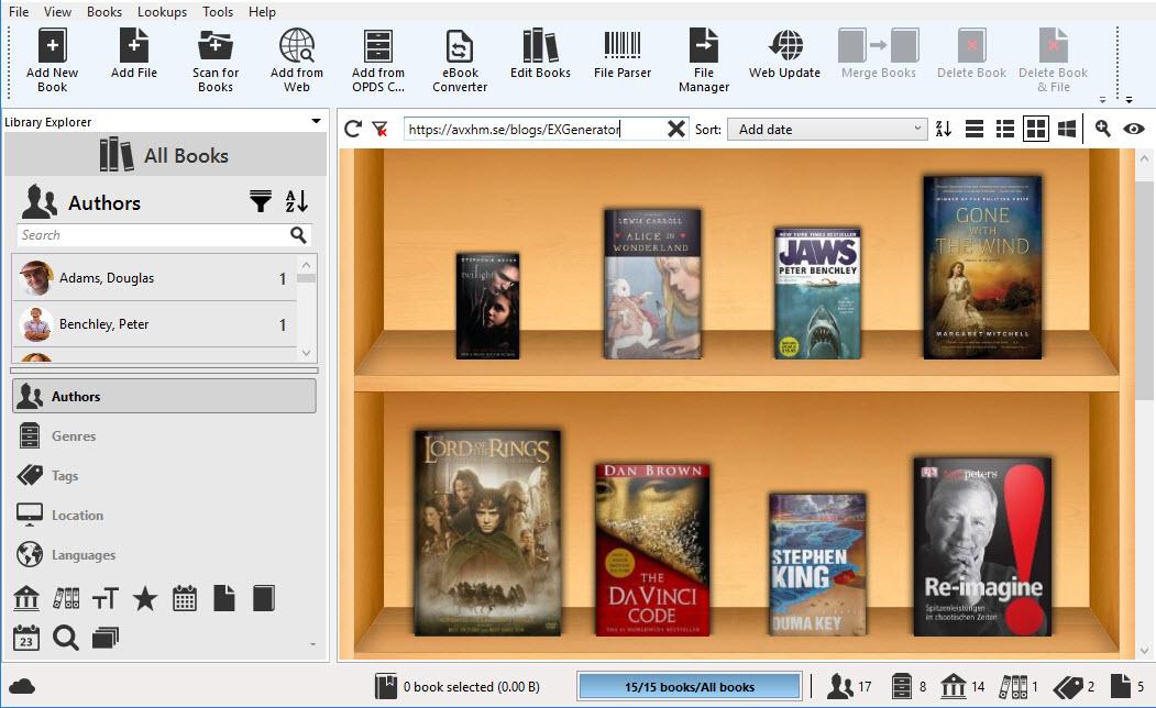 برنامج تنظيم وأرشفة الكتب