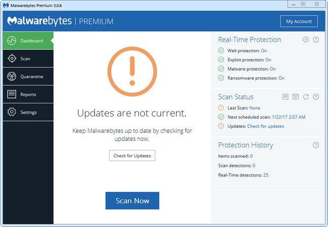 مالوير بتاريخ اليوم 06.10.2017 الباتش الجديد Malwarebytes Premium 3.2.2.2029