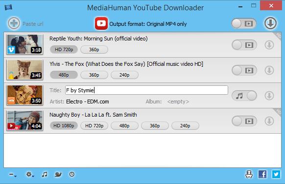 برنامج التحميل اليوتيوب بأعلى الصيغ MediaHuman YouTube Downloader 3.9.8.22 (2203)