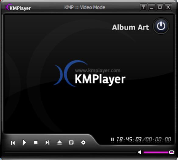 KmPlayer لتشغيل الفيديو والموسيقى