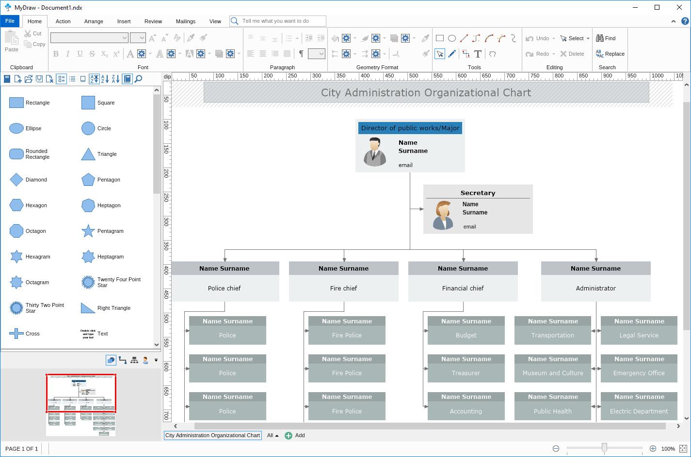 برنامج الرسوم البيانية والمخططات MyDraw 1.0.1 لبرنامج Visio