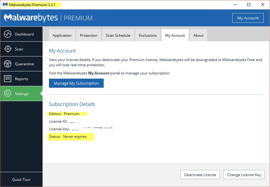 سيريالات الحياة لبرنامج الحماية Malwarebytes Premium 3.3.1.2183 اصدار