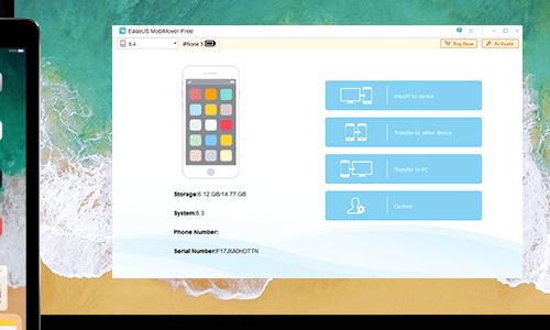 برنامج النسخ الإحتياطي وإدارة محتوى الأيفون الايباد Mobimover