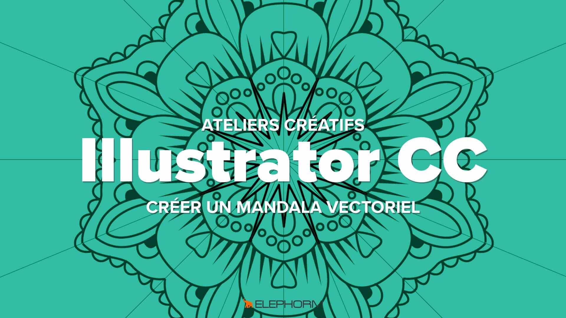 Dessiner mandala vectoriel Illustrator
