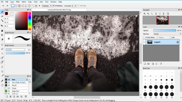 برنامج firealpaca البرامج للتعديل الصور والتحرير السهل السريع