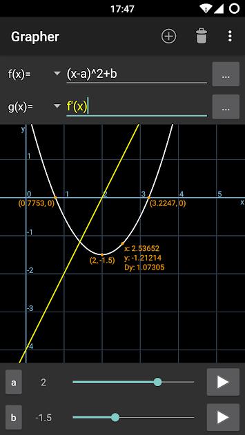 مطلوب تطبيق المنحنيات المدفوعة grapher.pro.1.4.2c