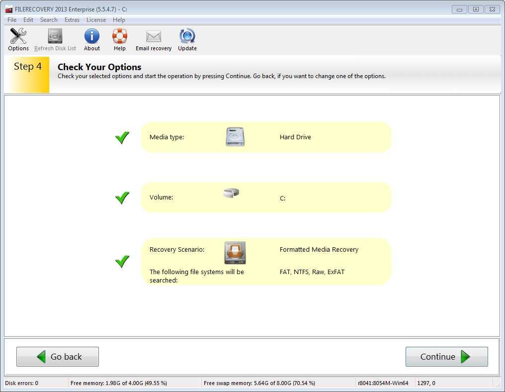 برنامج استعادة الملفات المحذوفة الفورمات FILERECOVERY Enterprise