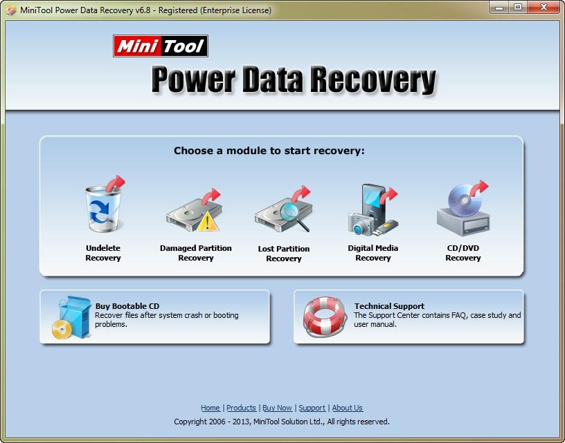 برنامج MiniTool Power Recovery 6.8.0.0 لاستعادة المحذوفات