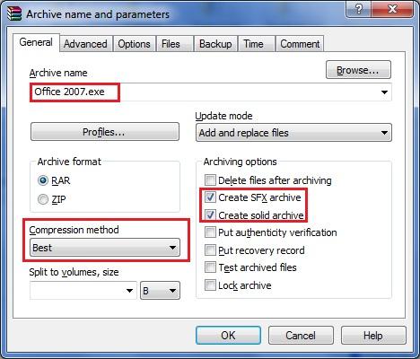 برنامج Office2007 بالسريال الاعدادات