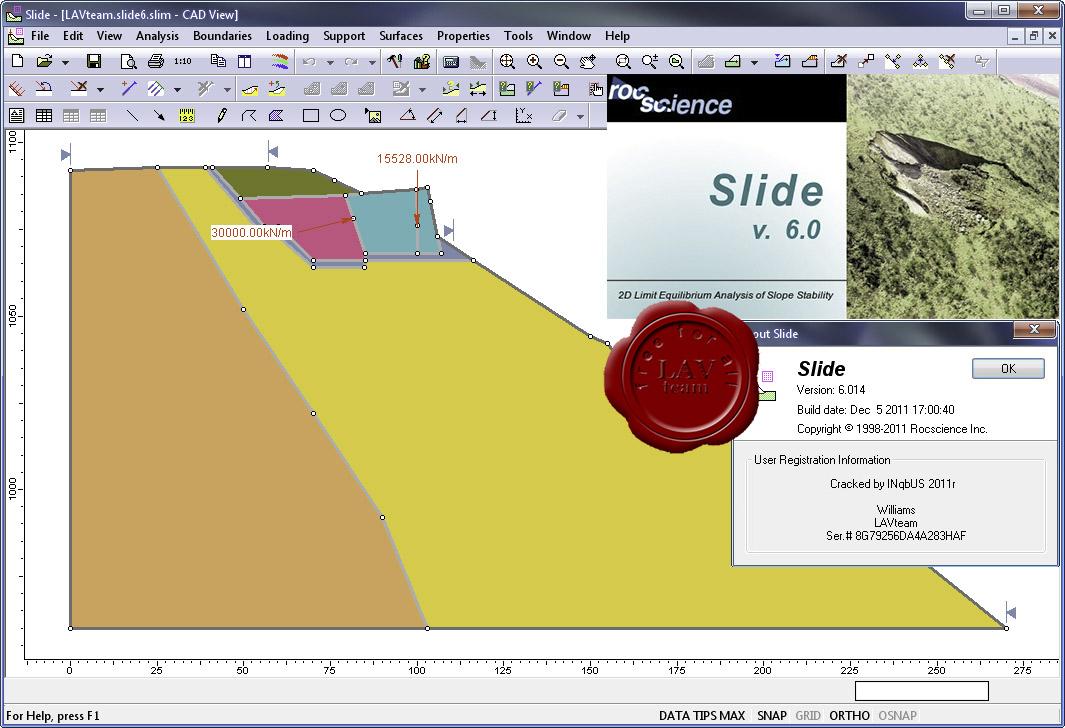 Rocscience Slide v6.025