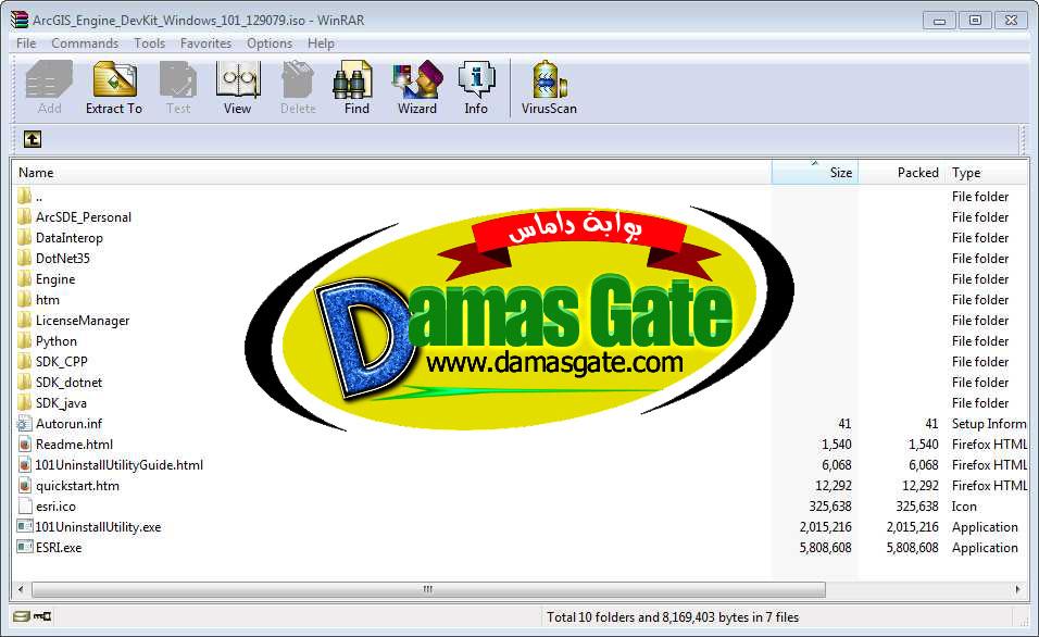 ArcGIS Engine DevKit Windows 101_129079 ISO