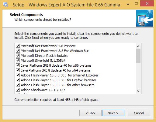الاصدار الاحدث تجميعية Windows Expert system