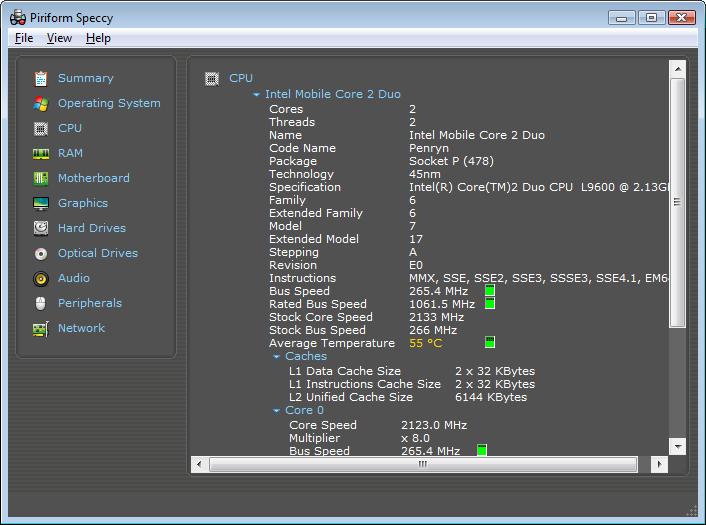 رائعه جديده Speccy v1.00.089 لمعرفه تفاصيل جهازك
