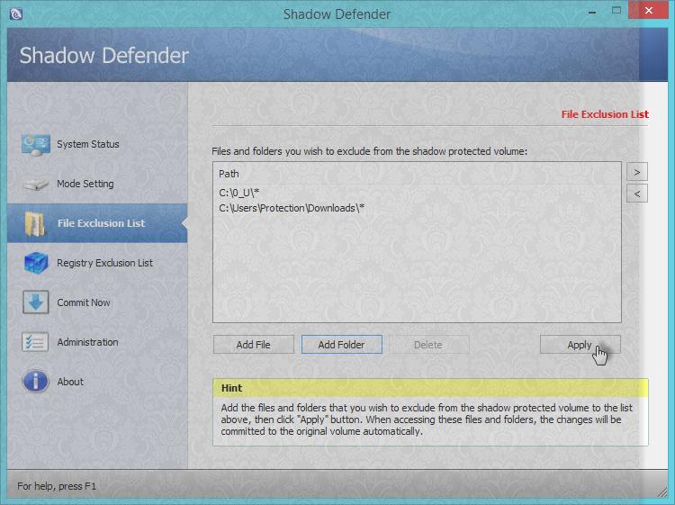 [شرح] الحماية بميديا [shadow Defender] الحماية الامثل